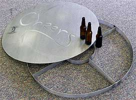 Large custom false bottom (no hinge) and stand