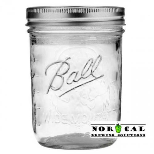 Ball, Kerr, or Mason 16 Ounce Wide Mouth canning jar with lid, band