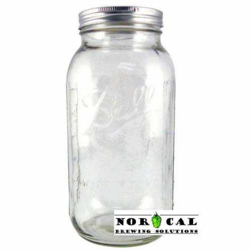 Ball, Kerr, or Mason 64 Ounce Wide Mouth canning jar with lid, band
