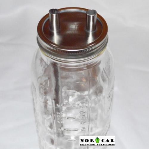 Ball, Kerr, Mason Wide Mouth canning jar Hop filter Plain Tube Kit assembled