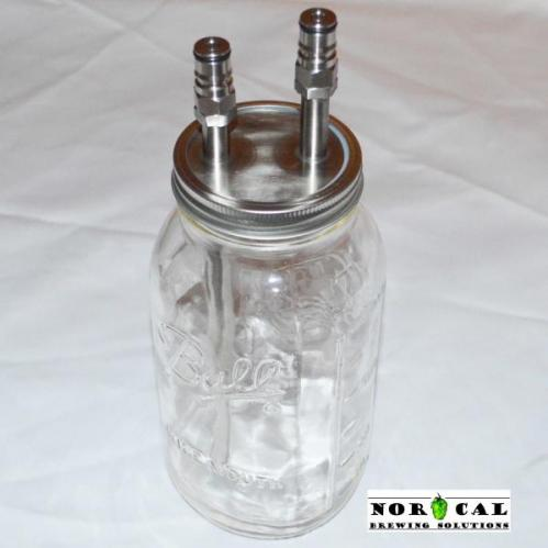 Ball, Kerr, Mason Wide Mouth canning jar Hop filter kit assemled