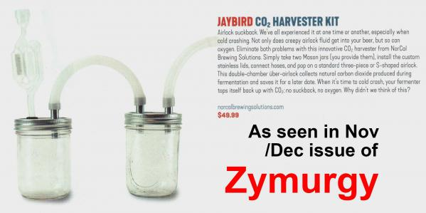 Zymurgy Magazine Jaybird CO2 Harvester Review at NorCal Brewing Solutions