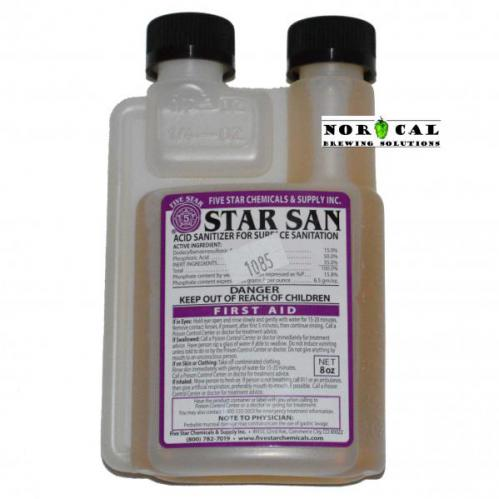 Star San Acid Based Sanitizer by Five Star Chemicals 8 ounce bottle