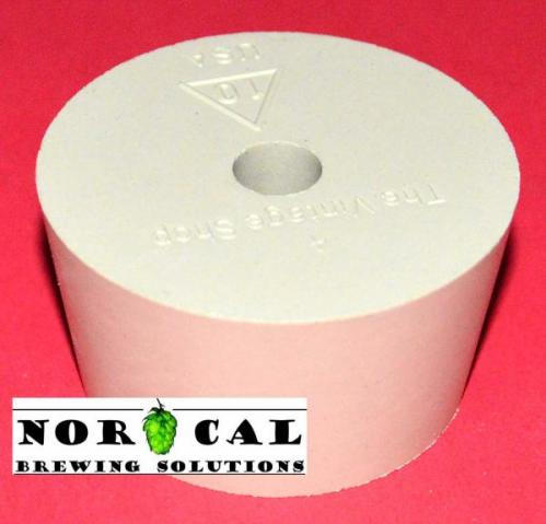 Stopper Rubber Bung No.10 Drilled for plastic carboy, airlock Top