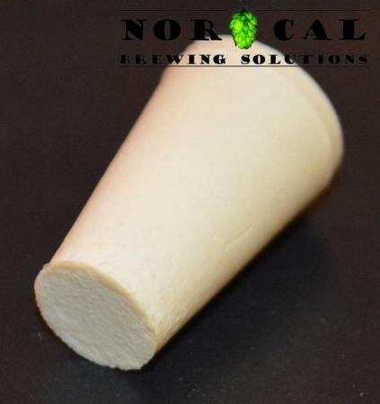 No. 000 solid rubber stopper bung plugs airlock hole side view
