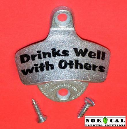 Bottle Opener - Starr X - Wall Mount - Metal - Drinks Well With Others
