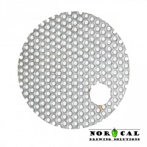 2.75 Inch Perforated Disc Offset Hole for Jaybird Canning Jar Hop Filters Randalls