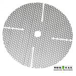 Perf Disc. 5 Inch, 1/2 Inch Hole, Cut slits. Used in Jaybird Whirlpool Master Paddle