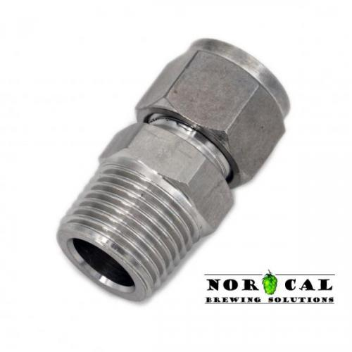 Compression Fitting - NPT Male 1/2