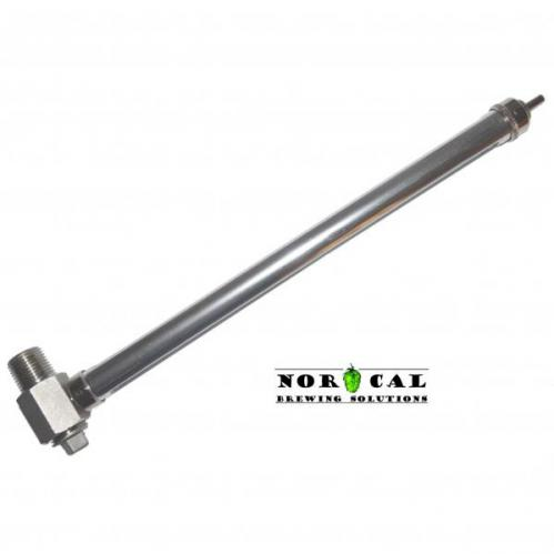 Stainless Steel and Glass 11 Inch Sight Glass NPT Connection