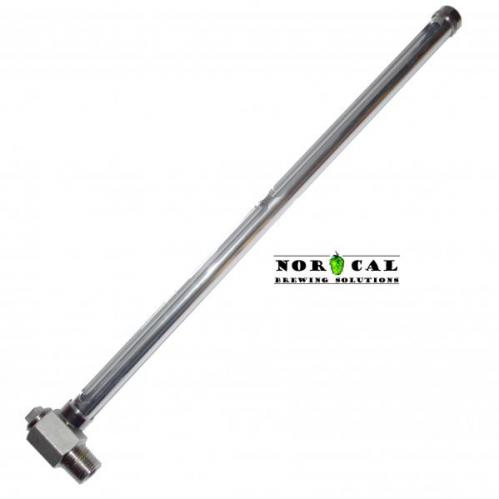 Stainless Steel and Glass 16 Inch Sight Glass NPT Connection
