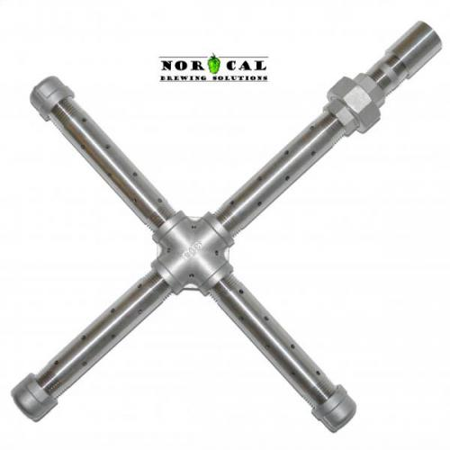 Jaybird 304 Stainless Steel Welded Sparge Assembly for Keg or Keggle
