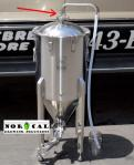 """1.5"""" Tri Clover Blow Off Tube on Ss Brewtech Conical Fermenter"""