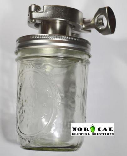Canning Jar Yeast Harvester 16 Oz Kit Tri Clover 1