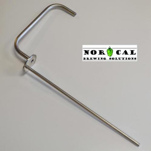 "Jaybird 2"" Tri Clover Blow Off Tube with 14"" Thermowell"