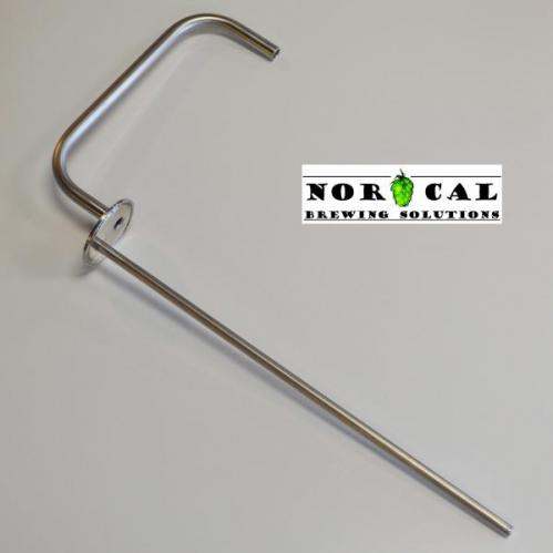 """Jaybird 3"""" Tri Clover Blow Off Tube with 14"""" Thermowell"""