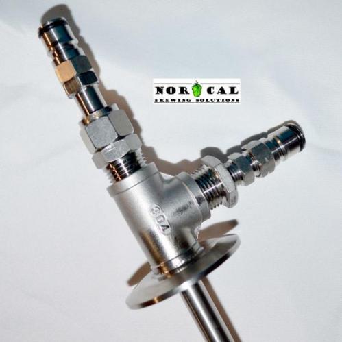 Sanke Keg Ball Lock Serving Connect Close Up View