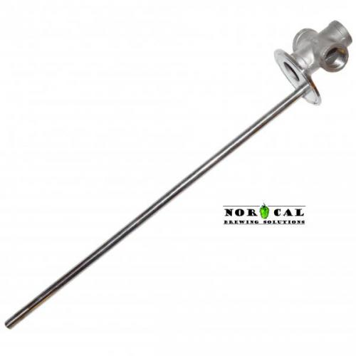 "Tri Clover Cap 2"" x 1/2"" NPT Cross with 14 inch Thermowell"