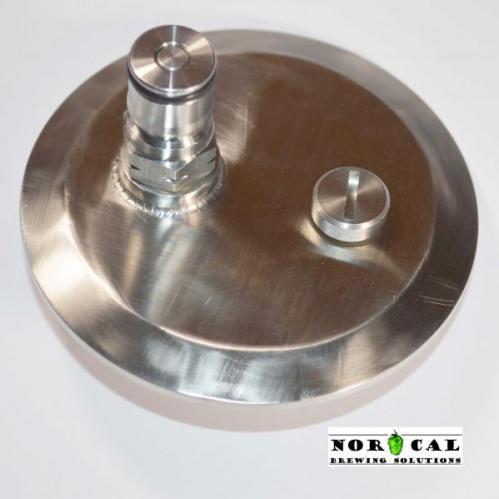 Corny Ball Lock Gas In with Pressure Relief Valve 2 inch Tri Clover