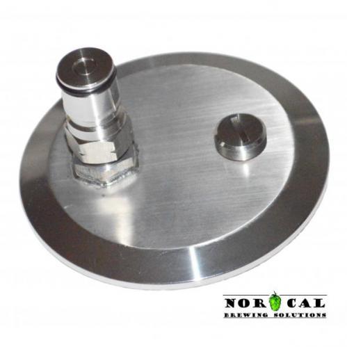 Ultimate Corny Ball Lock Gas In with Pressure Relief Valve 3 inch Tri Clover