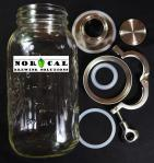 "Jaybird 1.5"" Tri-Clover 64 ounce canning jar yeast harvester Components"