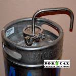 Tri Clover Fermentation Blow Off Tube on 1/6 Barrel Keg Closeup