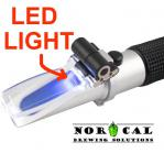 Refractometer Brix and Specific Gravity Auto Temp Correct, LED Light Closeup