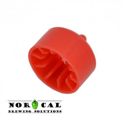 Plastic racking cane tip for half inch diameter stainless steel racking canes