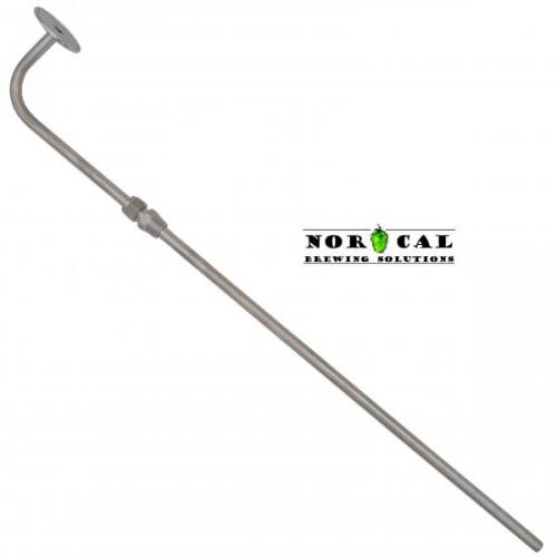 Stainless Steel racking cane adjustable height NPT Pass Through 2