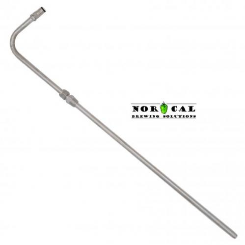 Stainless Steel racking cane adjustable height NPT Pass Through Liquid Ball Lock