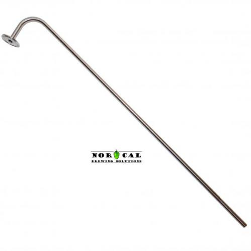 "1/2 Inch Diameter 304 Stainless Steel Racking Cane for Barrels with 1.5"" Tri Clover"
