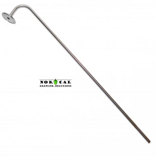 "1/2 Inch Diameter Stainless Racking Cane for Barrels with 2"" Tri Clover"